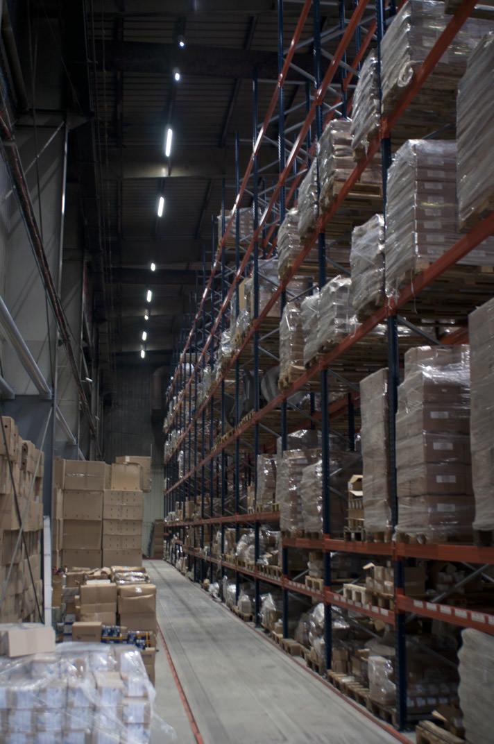 Профессиональные промышленные светодиодные прожекторы для склада на нашем объекте в Минске