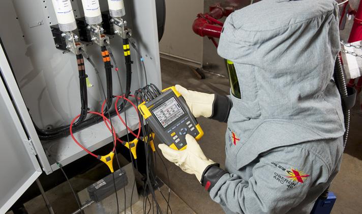 Измерить качество электроэнергии прибором Fluke 434