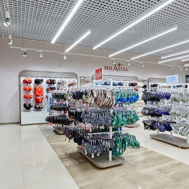 Милавица закупила линейные светодиодные светильники для магазинов. Хотите себе такое же освещение? Звоните нам!