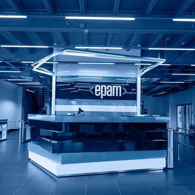 Светодиодные светильники LEDEL установлены в офисе ЭПАМ Системз в Минске. Хотите похожие светильники? Звоните нам!