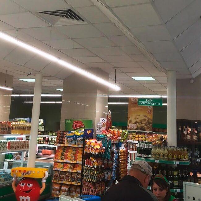 Сеть продуктов питания Ника в Витебске перешла на светодиодные светильники LEDEL. Хотите так же? Звоните нам в Элреди!
