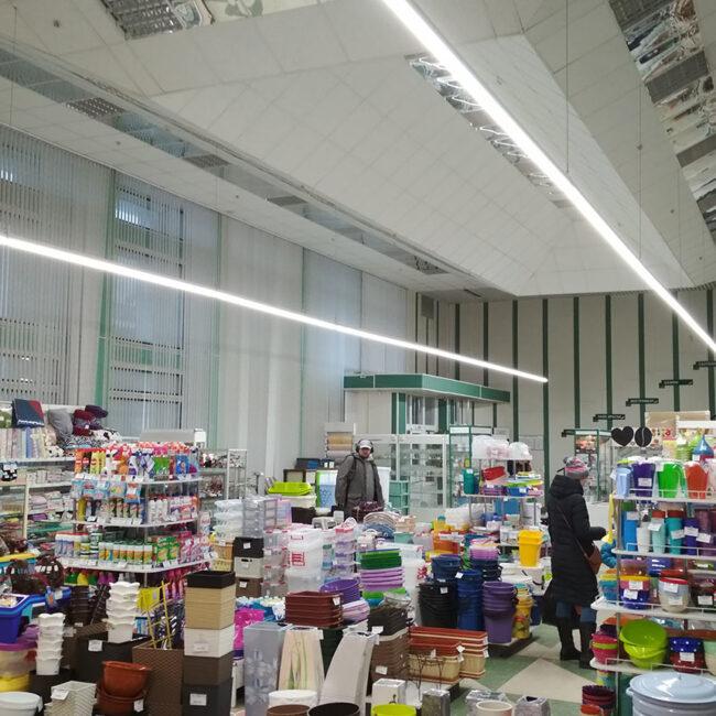 Гаспадар и гаспадыня закупили светодиодные светильники в магазин ledz e-Trade. Непрерывные линии света. Окупились за 14 месяцев. Хотите такие светильники? Звоните нам!