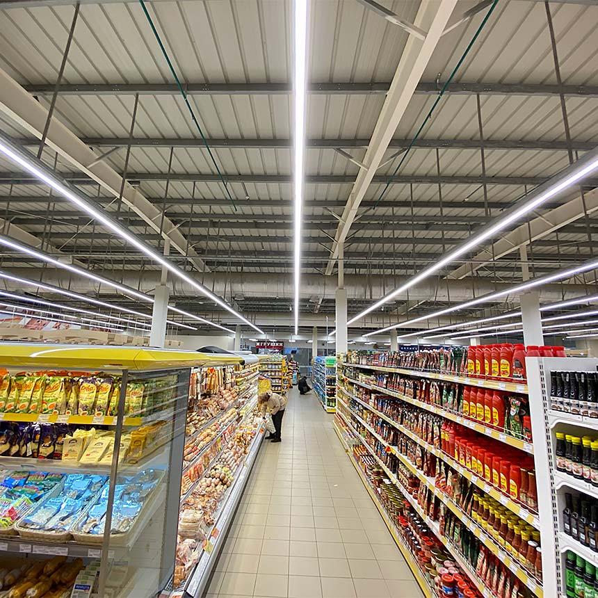 Дионис закупил светильники для торговых сетей белорусского производства ledz e-Line. Окупаются за 11.0 месяцев. Экономят 65% затрат. Хотите такие светильники? Звоните нам!