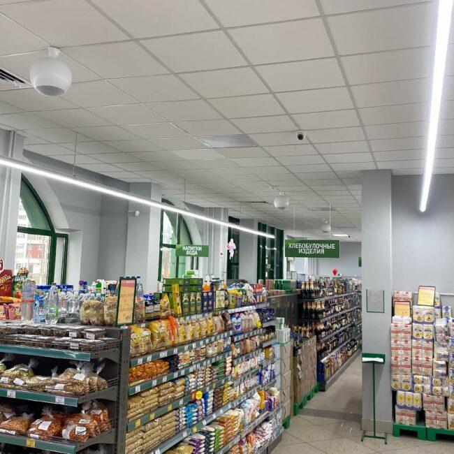 Сеть продуктов питания Ника в Витебске закупила светодиодное освещение для магазинов у дома. Окупаются за 12 месяцев. Служат более 15 лет. Хотите такие светильники? Звоните нам!