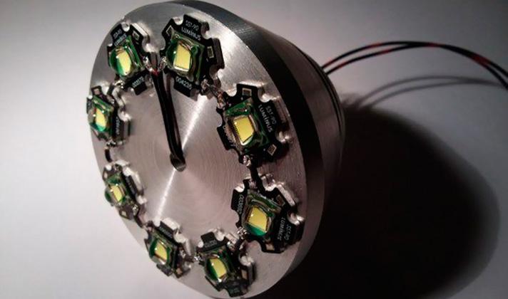 Ручной светодиодный фонарь на 18000 люмен